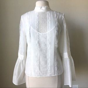 Celine bell sleeves Victorian lace blouse top